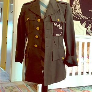 Vintage ww2 army jacket altered